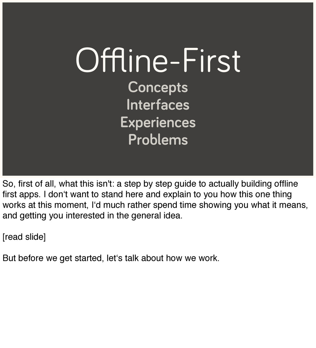 Offline-First Concepts Interfaces Experiences Pro...