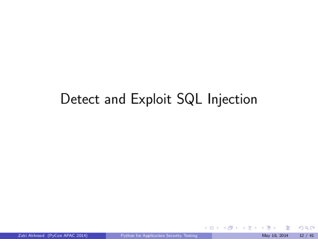 Detect and Exploit SQL Injection Zaki Akhmad (P...