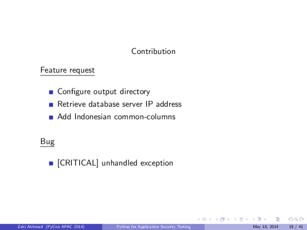 Contribution Feature request Configure output di...