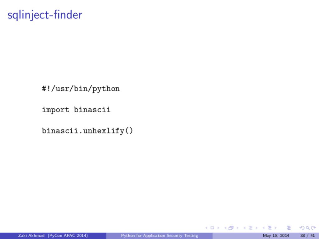sqlinject-finder #!/usr/bin/python import binasc...