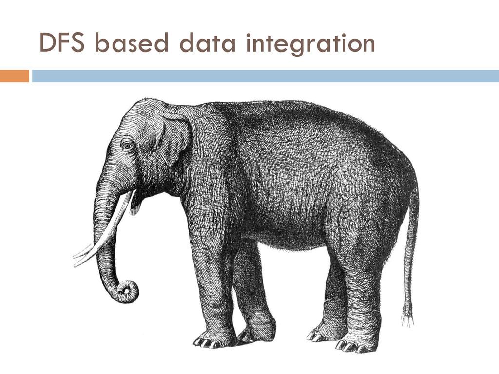 DFS based data integration