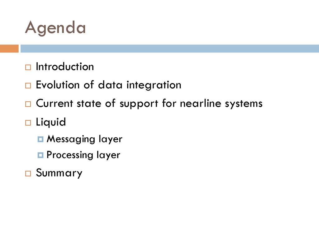 Agenda ¨ Introduction ¨ Evolution of data i...