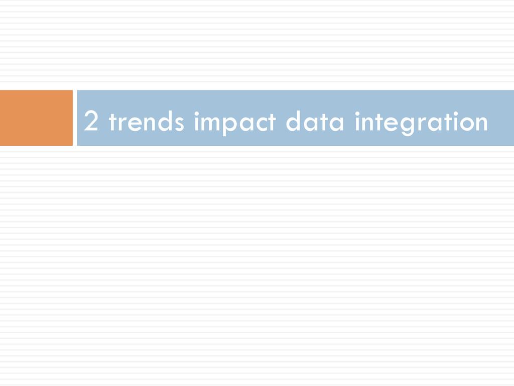 2 trends impact data integration