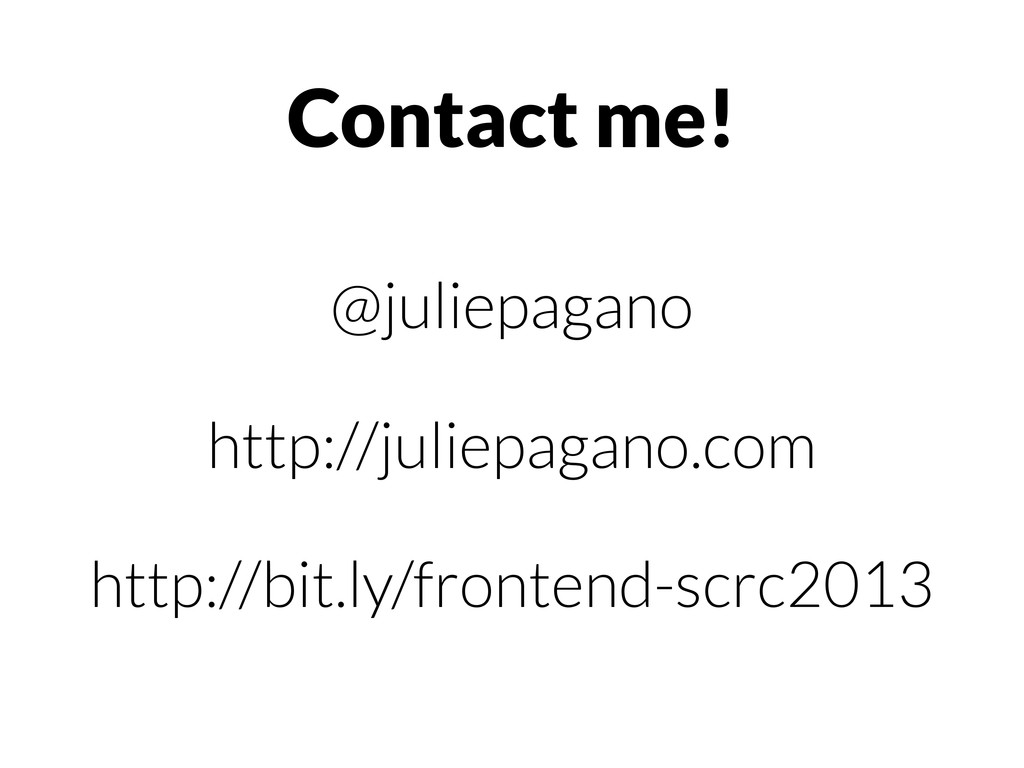 @juliepagano http://juliepagano.com http://bit....
