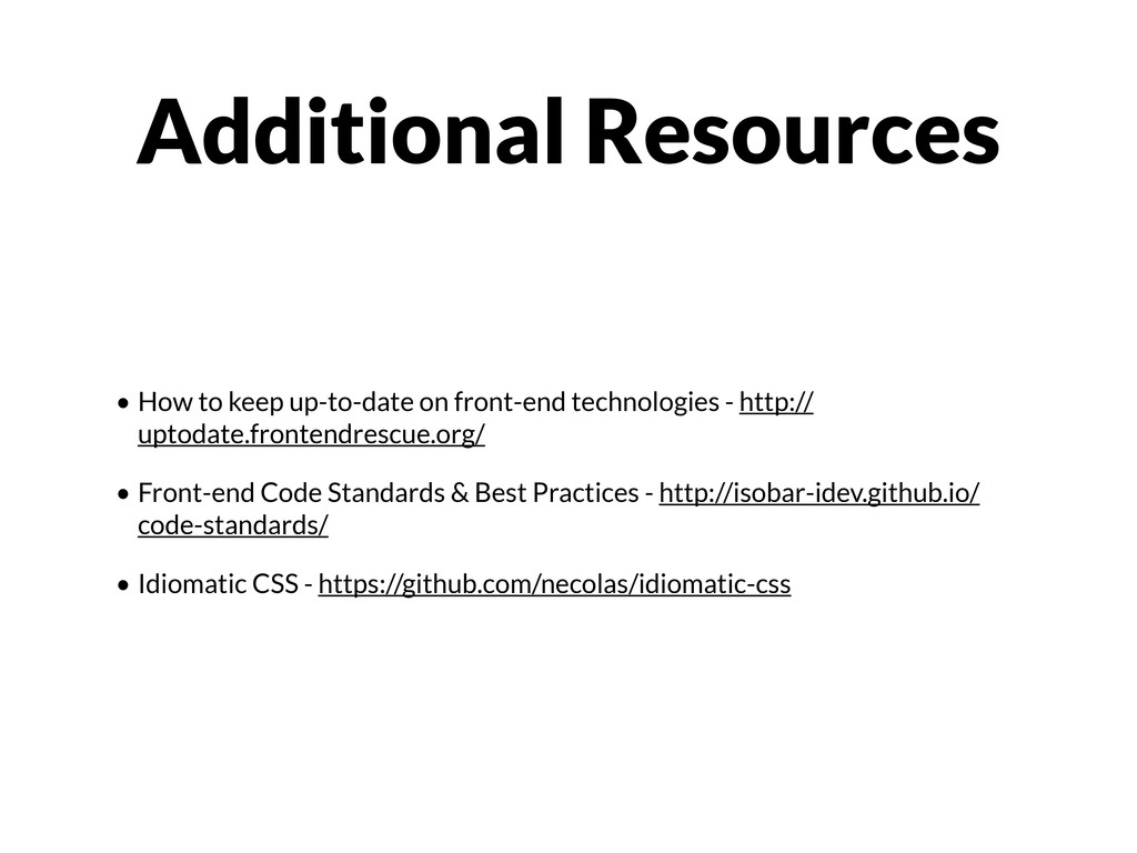 • How to keep up-to-date on front-end technolog...