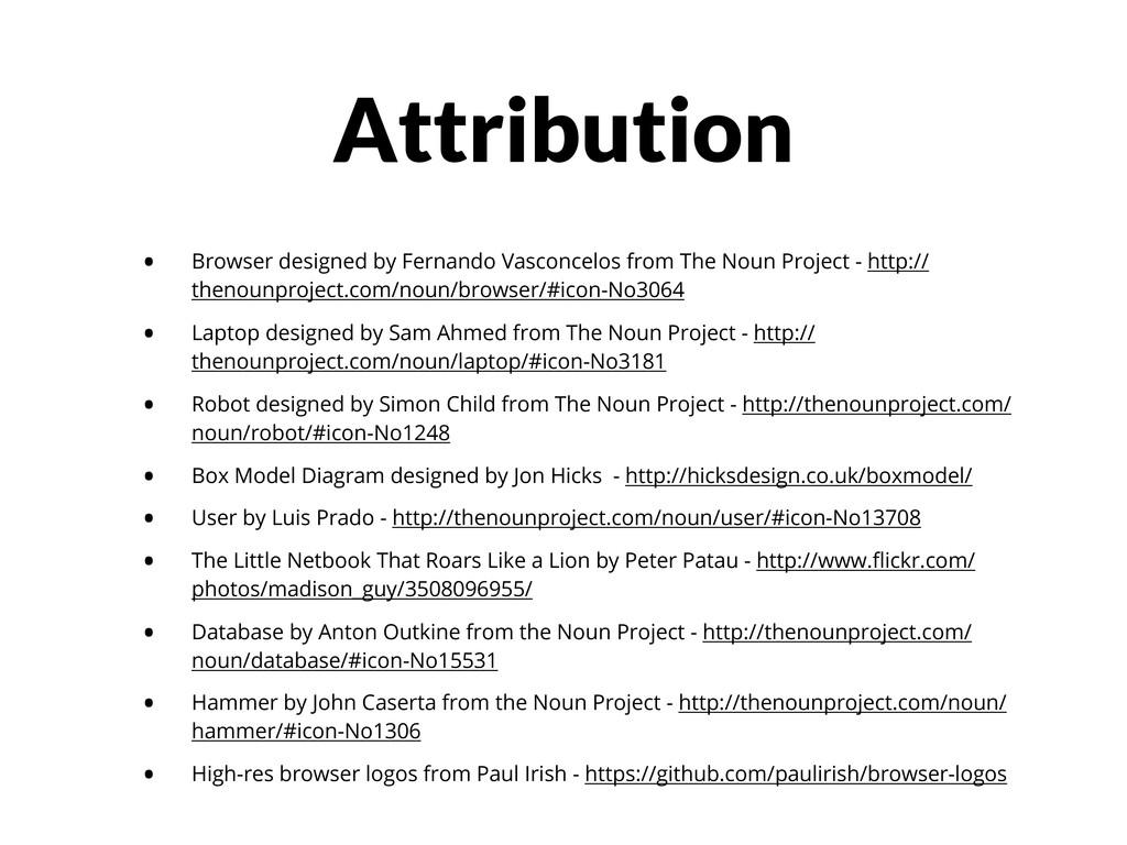 Attribution • Browser designed by Fernando Vasc...