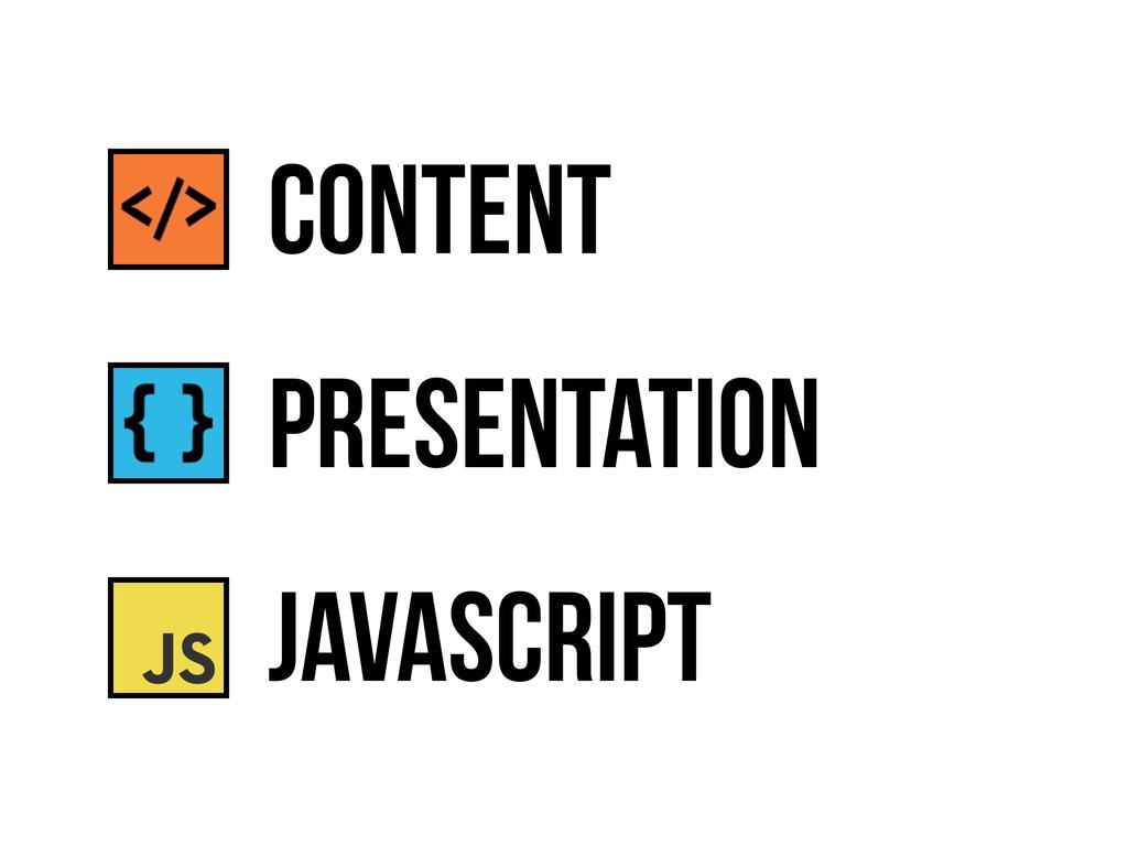 presentation JavaScript content