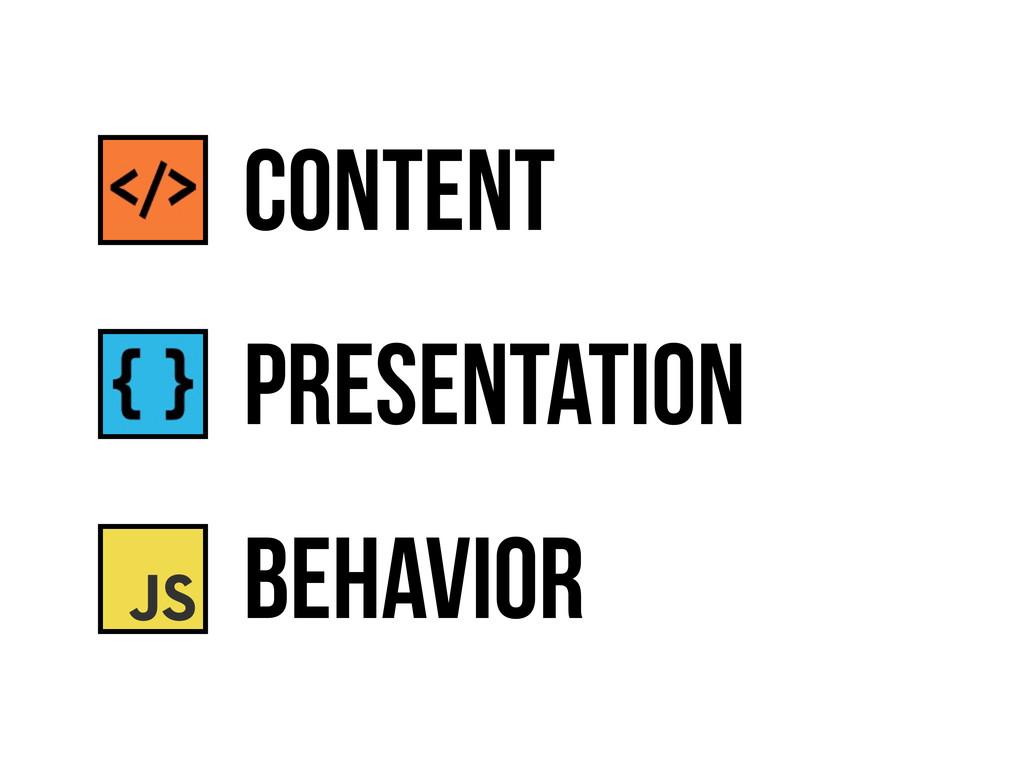 presentation behavior content