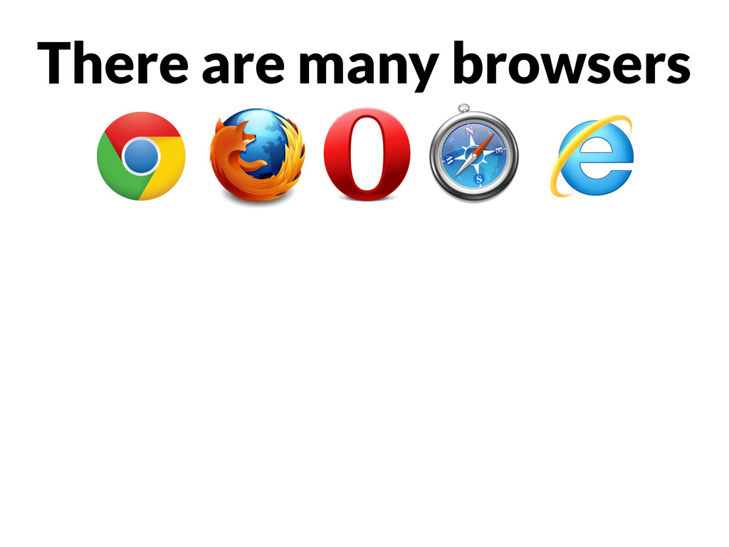 There are many browsers