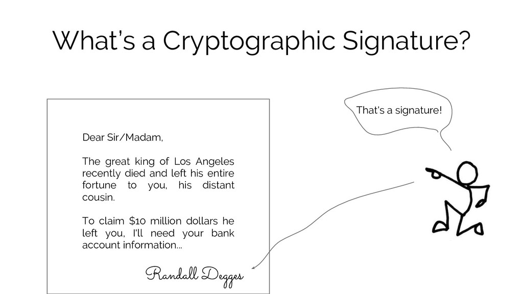 What's a Cryptographic Signature? Randall Degge...