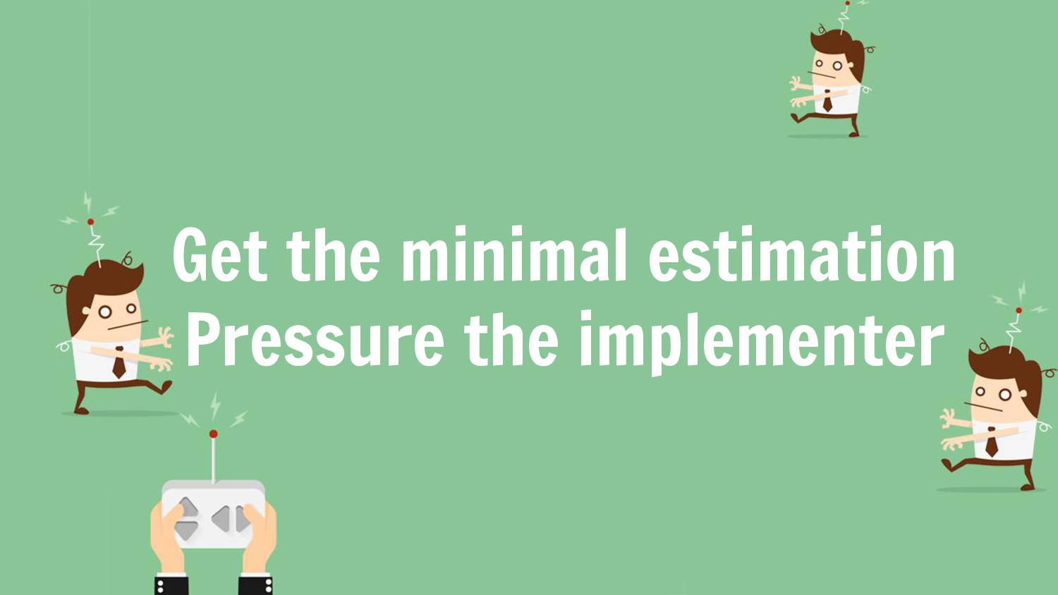 Get the minimal estimation Pressure the impleme...