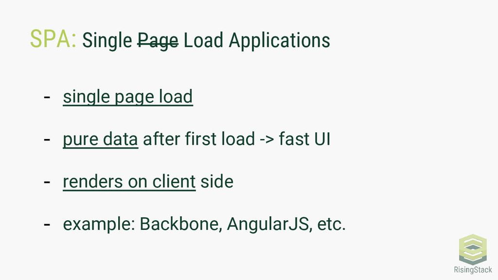 SPA: Single Page Load Applications - single pag...