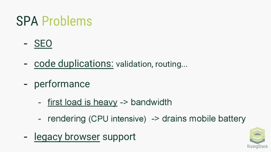 SPA Problems - SEO - code duplications: validat...