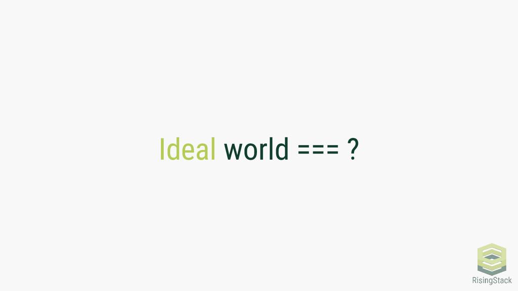 Ideal world === ?