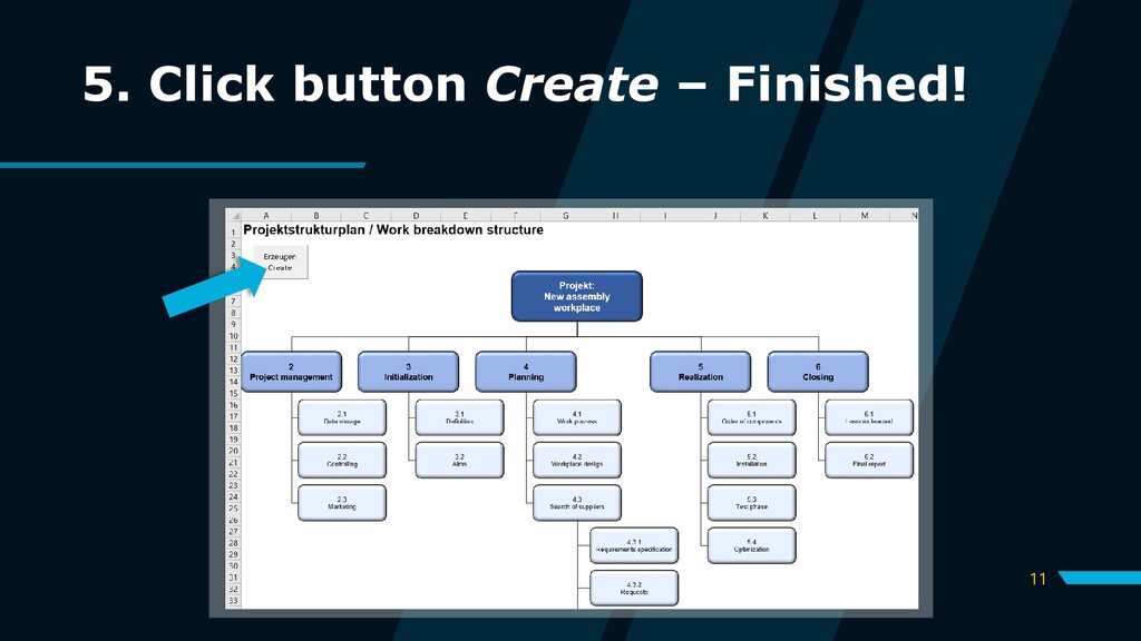 11 5. Click button Create – Finished!