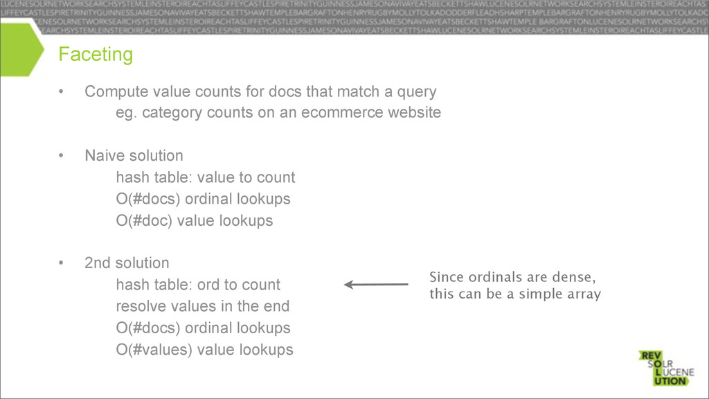 • Compute value counts for docs that match a qu...
