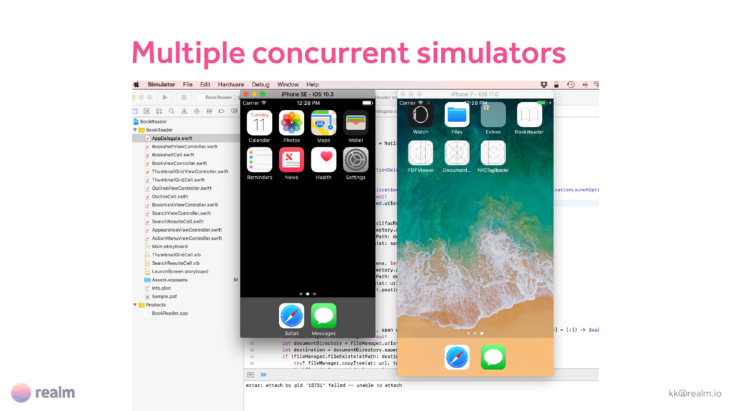 kk@realm.io Multiple concurrent simulators