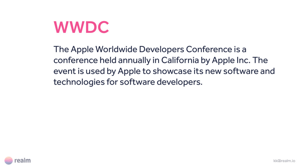 WWDC The Apple Worldwide Developers Conference ...