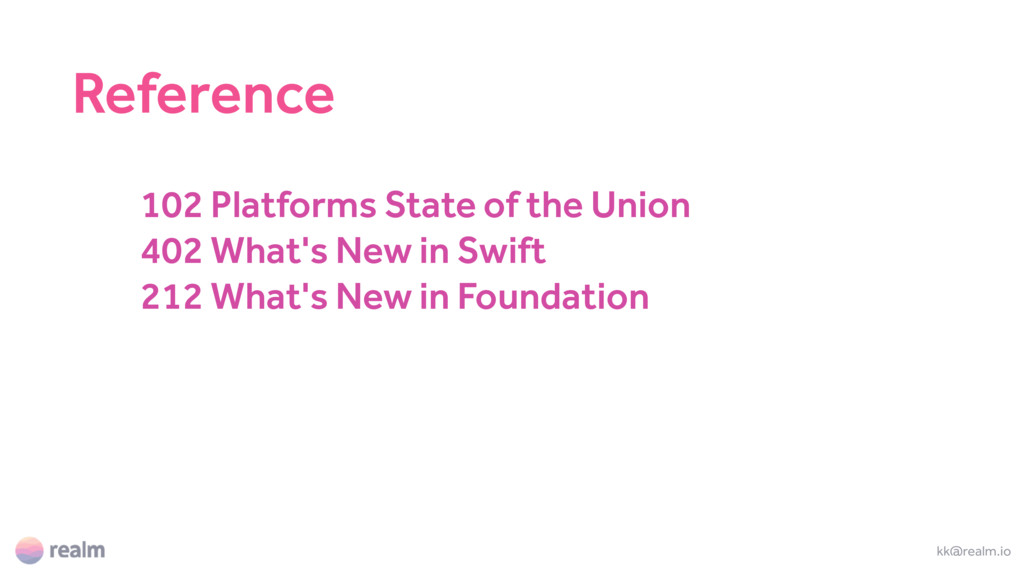 102 Platforms State of the Union 402 What's New...