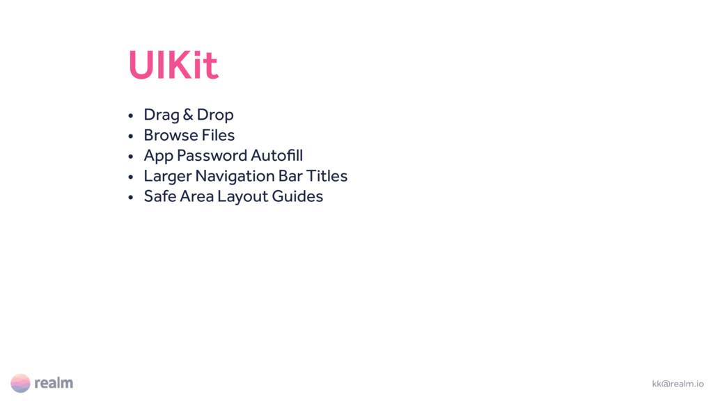UIKit • Drag & Drop • Browse Files • App Passwo...