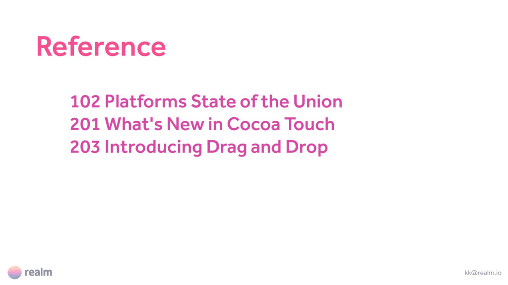 102 Platforms State of the Union 201 What's New...