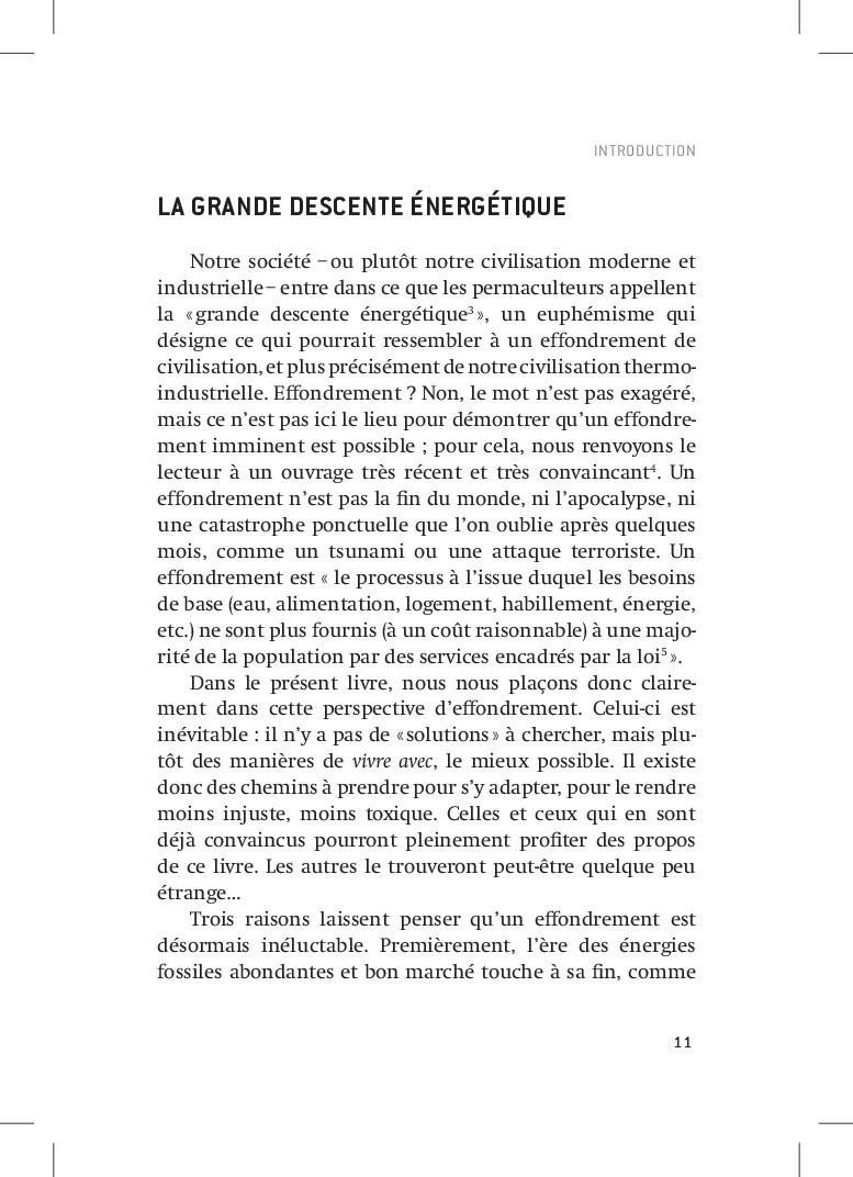 11 INTRODUCTION LA GRANDE DESCENTE ÉNERGÉTIQUE ...