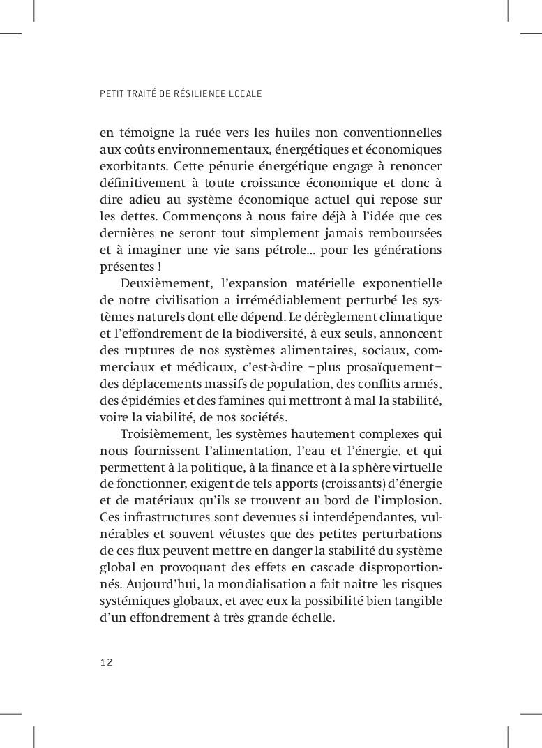 PETIT TRAITÉ DE RÉSILIENCE LOCALE 12 en témoign...