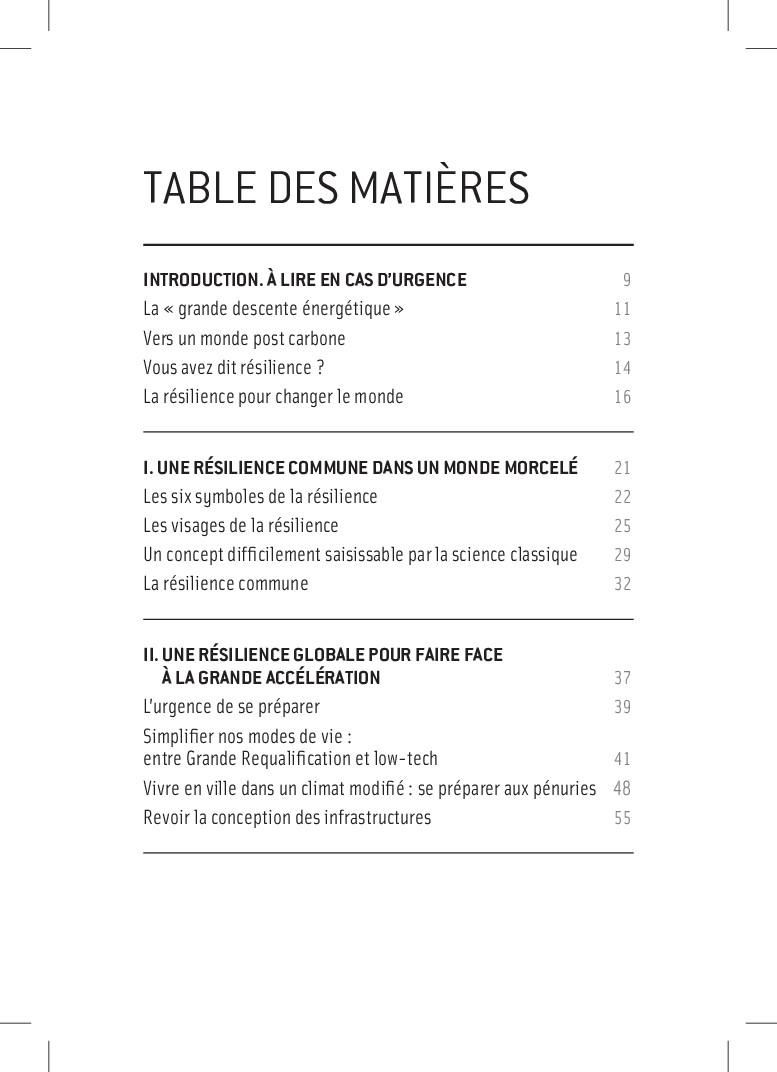 TABLE DES MATIÈRES INTRODUCTION. À lire en cas ...