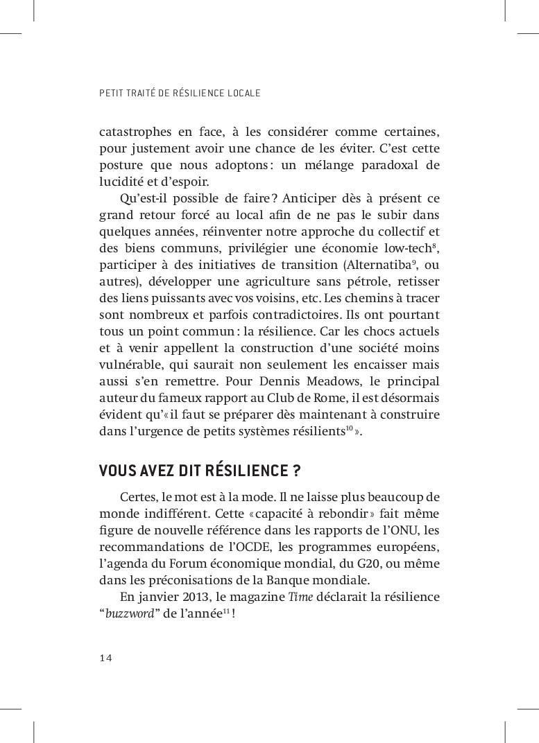 PETIT TRAITÉ DE RÉSILIENCE LOCALE 14 catastroph...