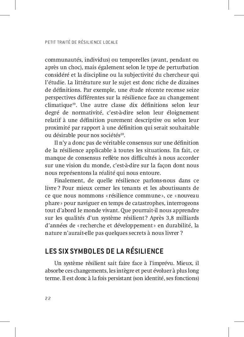 PETIT TRAITÉ DE RÉSILIENCE LOCALE 22 communauté...