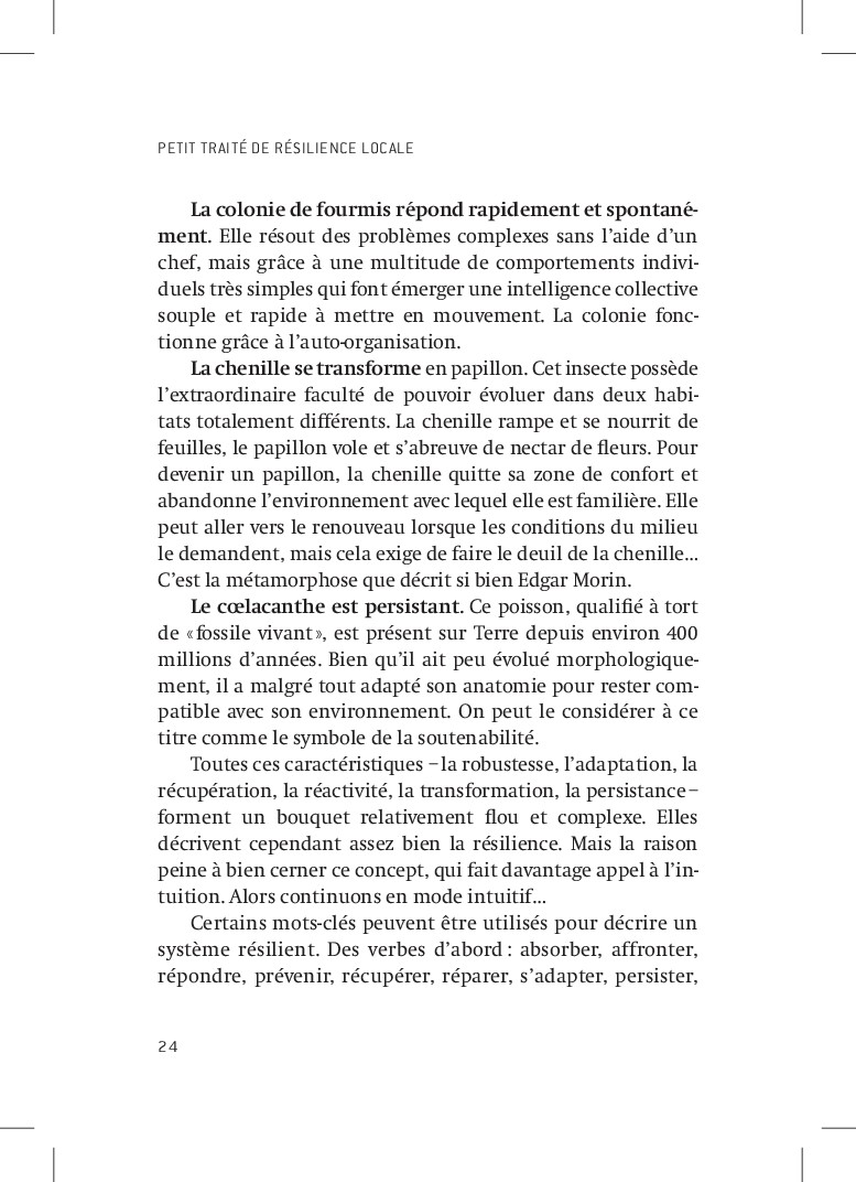 PETIT TRAITÉ DE RÉSILIENCE LOCALE 24 La colonie...