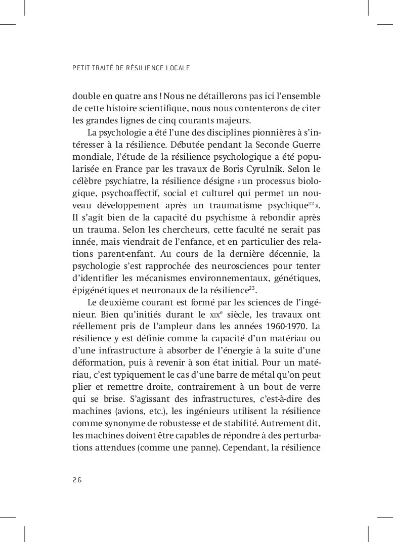 PETIT TRAITÉ DE RÉSILIENCE LOCALE 26 double en ...