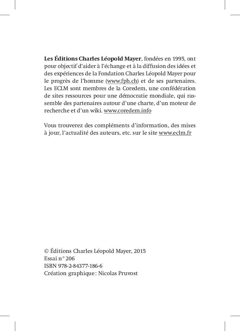 Les Éditions Charles Léopold Mayer, fondées en ...
