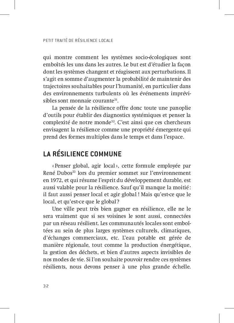 PETIT TRAITÉ DE RÉSILIENCE LOCALE 32 qui montre...