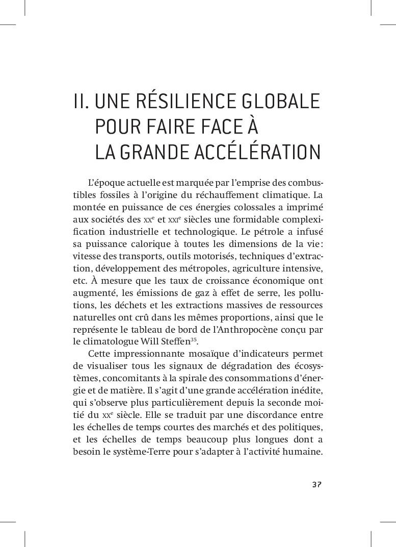 37 37 II. UNE RÉSILIENCE GLOBALE POUR FAIRE FA...