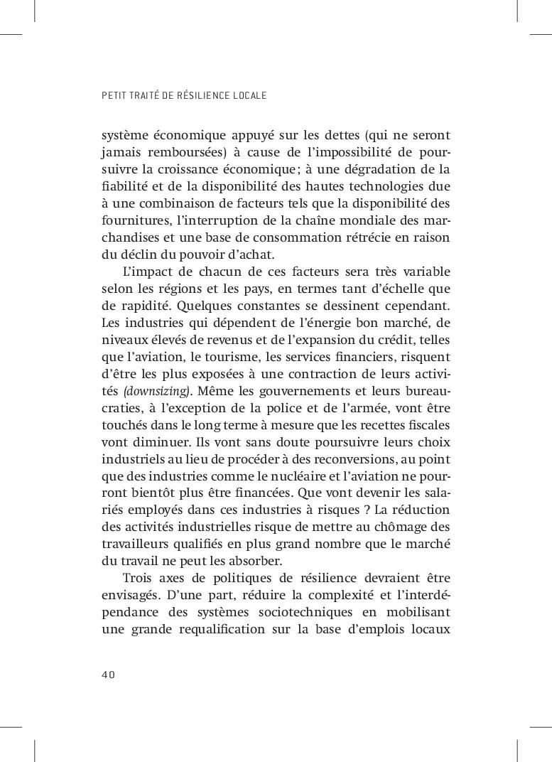 PETIT TRAITÉ DE RÉSILIENCE LOCALE 40 système éc...