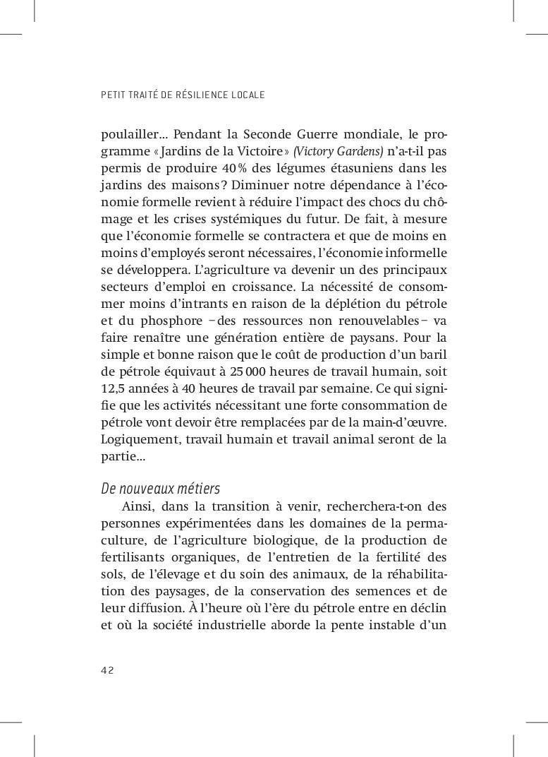 PETIT TRAITÉ DE RÉSILIENCE LOCALE 42 poulailler...