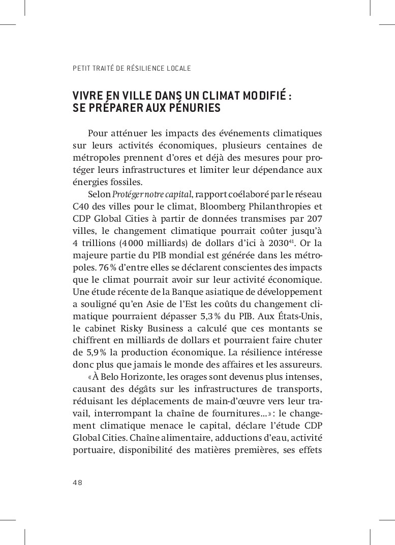 PETIT TRAITÉ DE RÉSILIENCE LOCALE 48 Vivre en v...