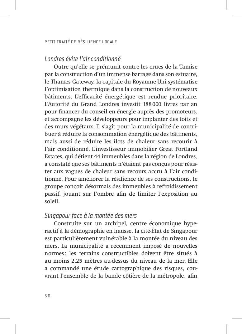 PETIT TRAITÉ DE RÉSILIENCE LOCALE 50 Londres év...