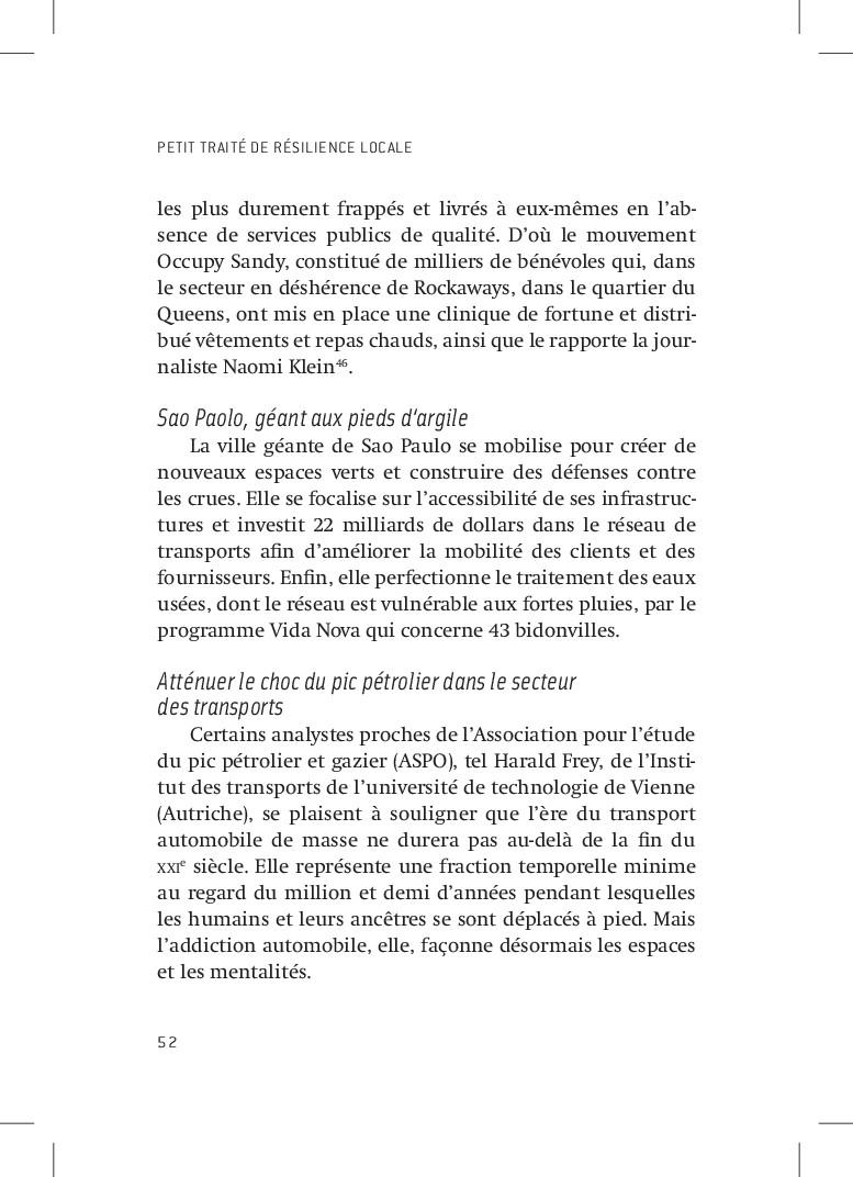 PETIT TRAITÉ DE RÉSILIENCE LOCALE 52 les plus d...