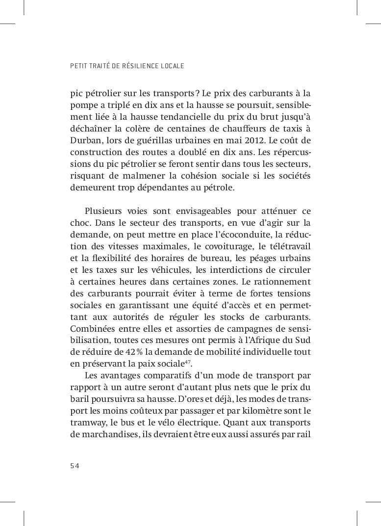 PETIT TRAITÉ DE RÉSILIENCE LOCALE 54 pic pétrol...