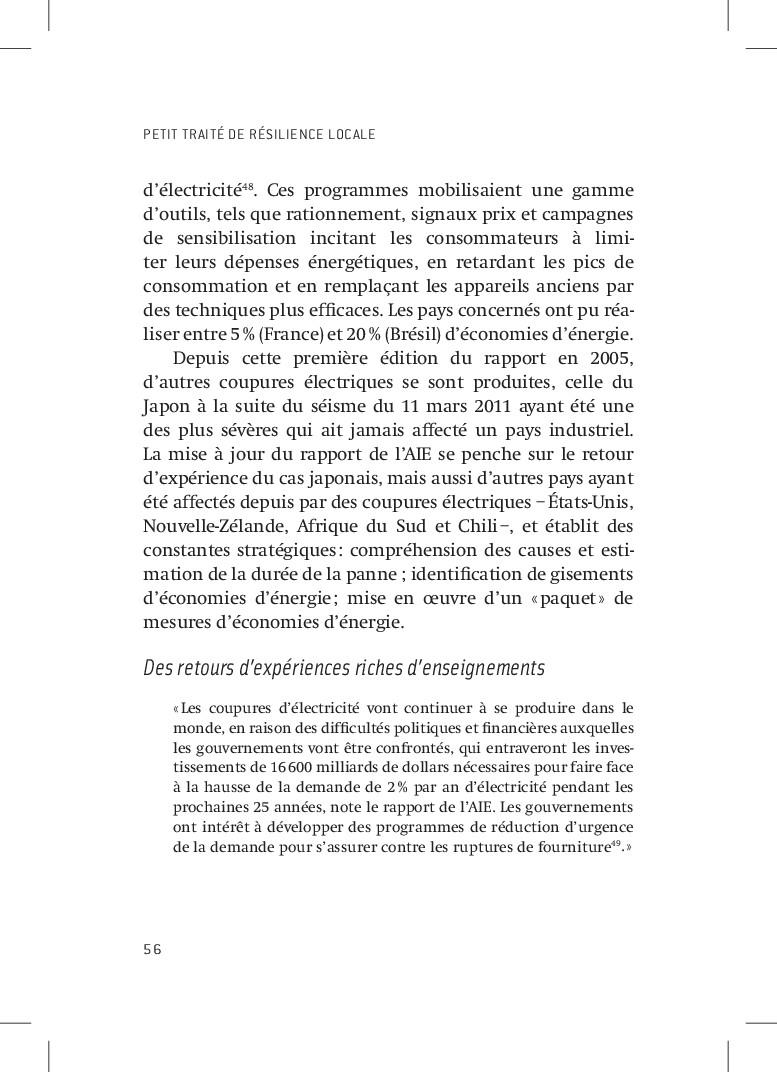 PETIT TRAITÉ DE RÉSILIENCE LOCALE 56 d'électric...