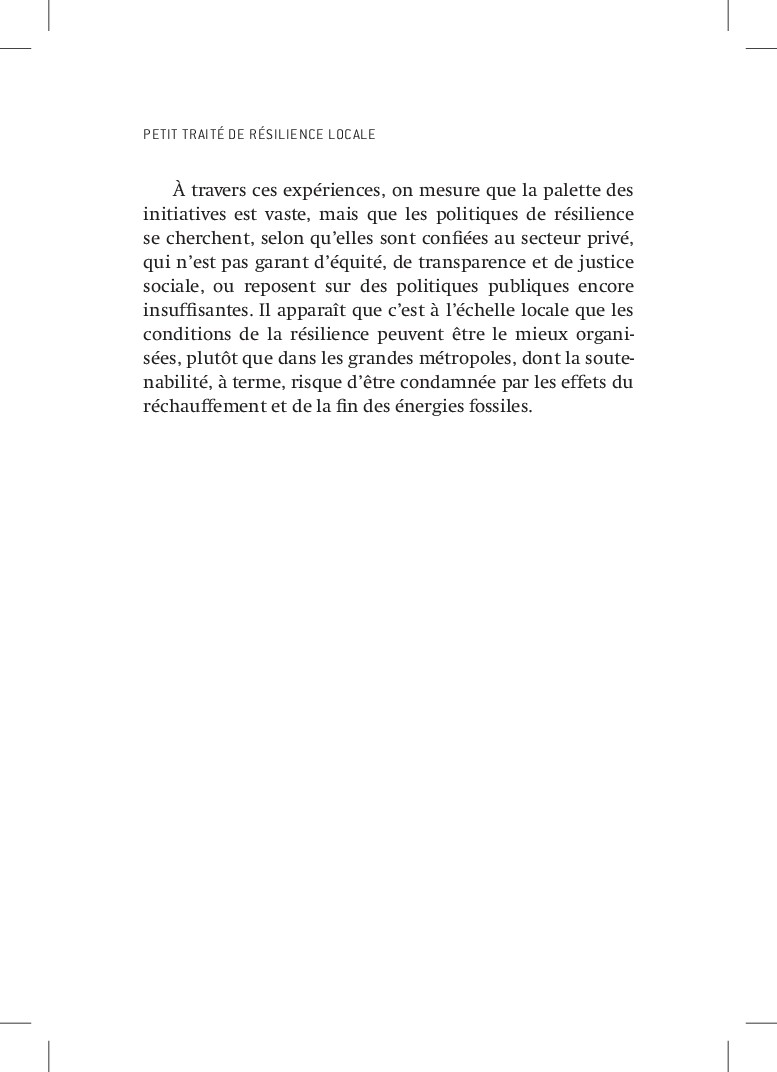 PETIT TRAITÉ DE RÉSILIENCE LOCALE À travers ces...