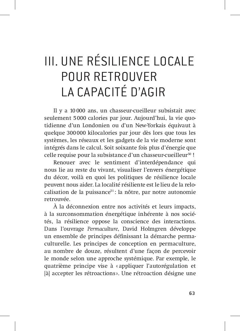 63 63 III.UNE RÉSILIENCE LOCALE POUR RETROUVE...