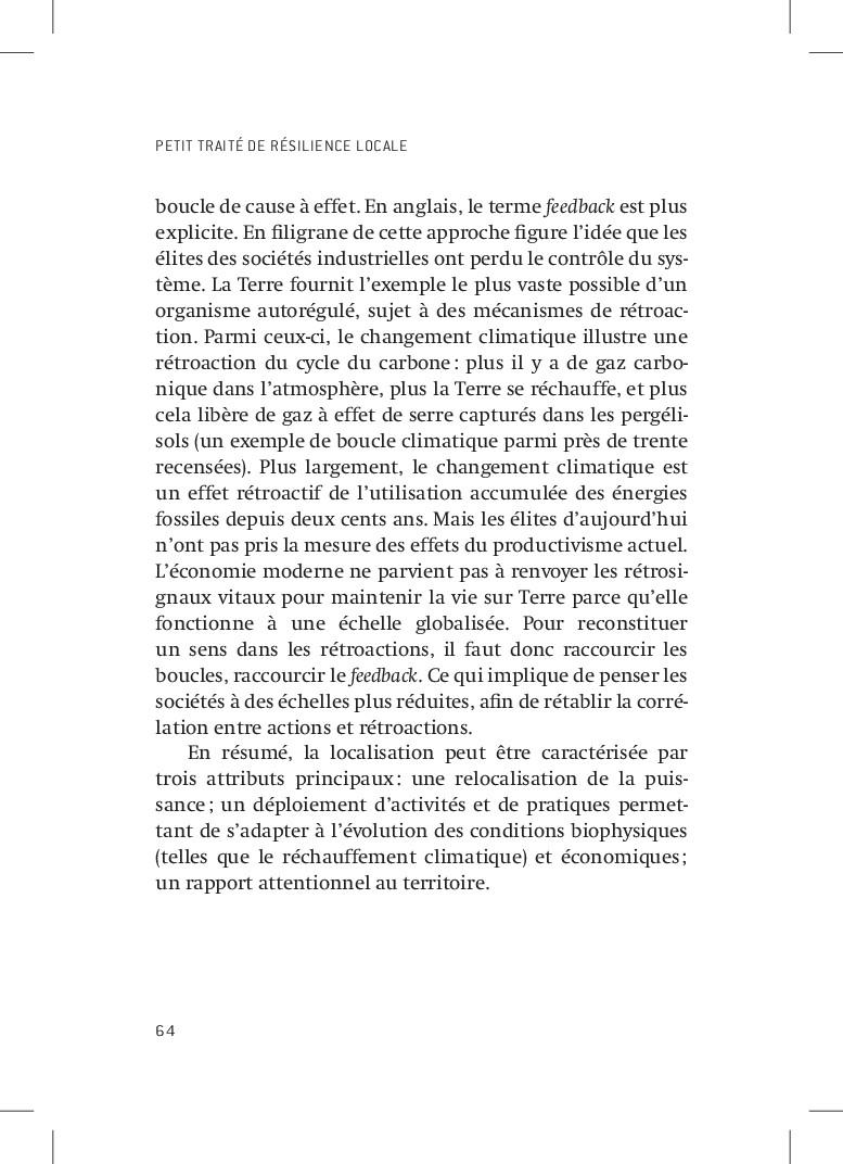 PETIT TRAITÉ DE RÉSILIENCE LOCALE 64 boucle de ...