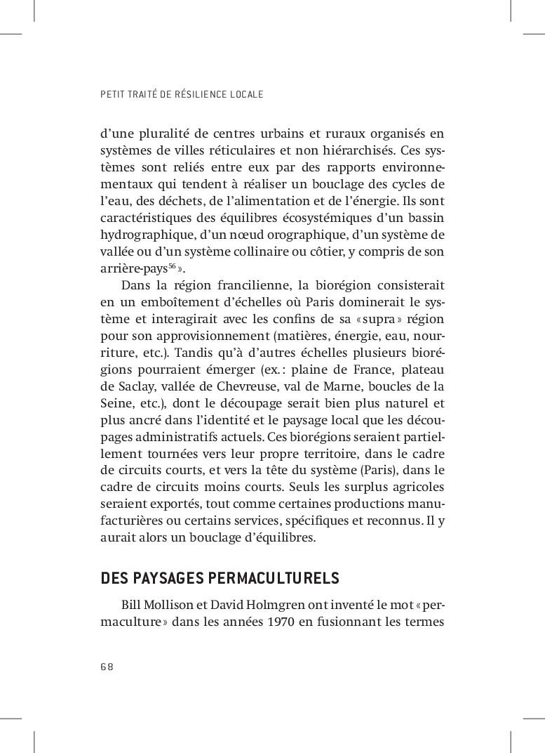 PETIT TRAITÉ DE RÉSILIENCE LOCALE 68 d'une plur...