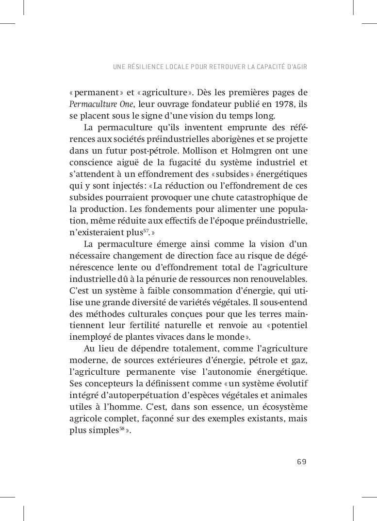 69 «permanent» et «agriculture». Dès les pr...