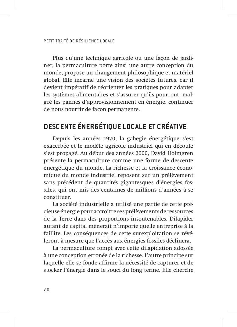 PETIT TRAITÉ DE RÉSILIENCE LOCALE 70 Plus qu'un...
