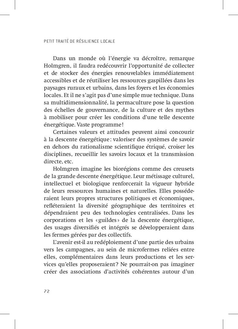 PETIT TRAITÉ DE RÉSILIENCE LOCALE 72 Dans un mo...