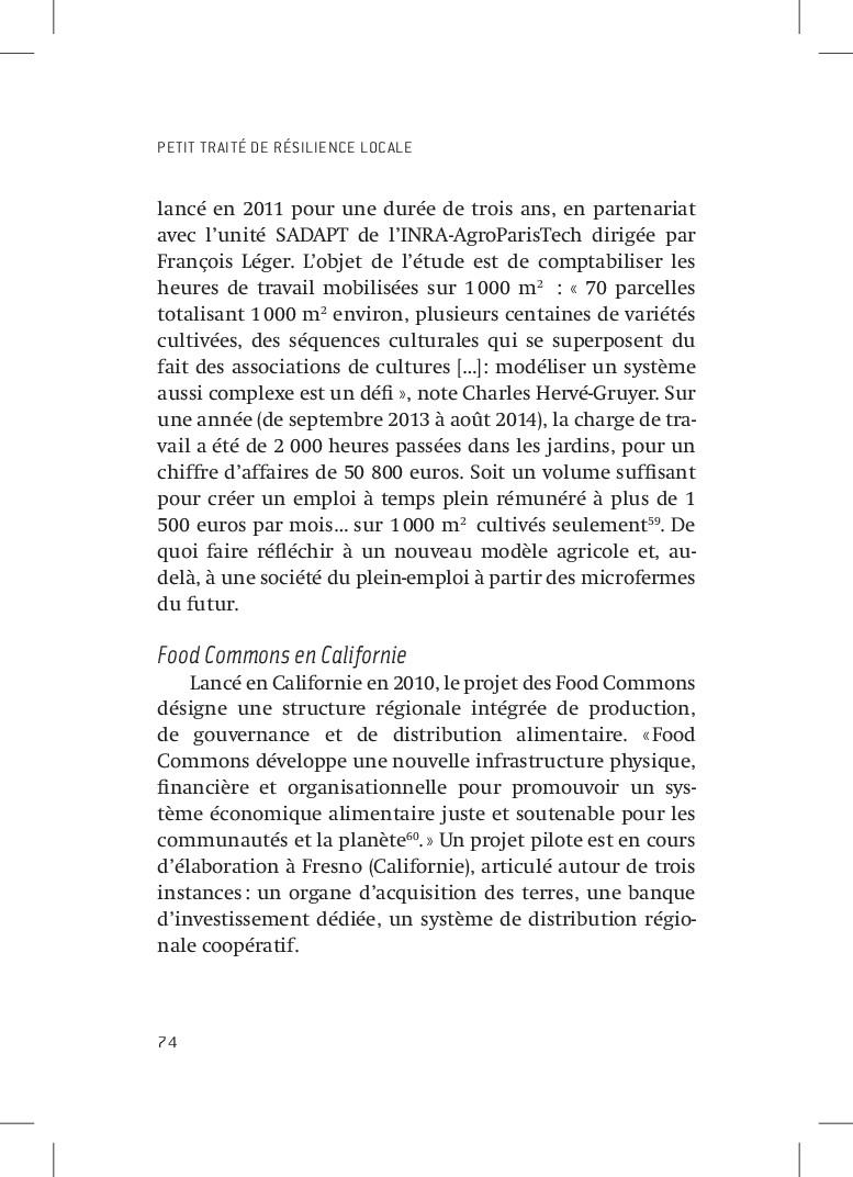 PETIT TRAITÉ DE RÉSILIENCE LOCALE 74 lancé en 2...